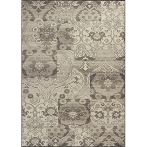 Reflections Grey Brocade Rectangular: 5 Ft. 3 In. x 7 Ft. 7 In. Rug