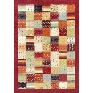 Reflections Red Hacienda Rectangular: 6 Ft. 7 In. x 9 Ft. 6 In. Rug