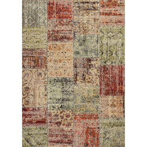 Reflections Multicolor Patchwork Rectangular: 5 Ft. 3 In. x 7 Ft. 7 In. Rug