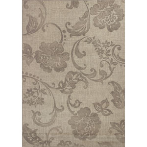 Reflections Grey Silhouette Rectangular: 5 Ft. 3 In. x 7 Ft. 7 In. Rug