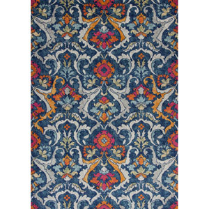 Reina Navy Rectangular: 3 Ft. 3 In. x 4 Ft. 11 In. Rug