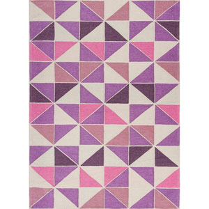 Retreat Ivory and Pink Rectangular: 20 In. x 31 In. Rug