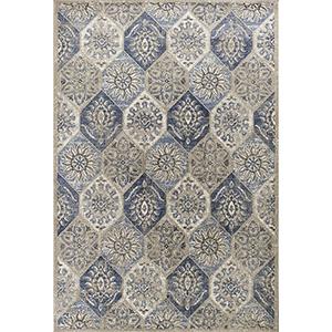 Seville Pewter Mosaic Rectangular: 3 Ft. 3 In. x 4 Ft. 11 In. Rug