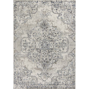 Seville Ivory and Grey Rectangular: 5 Ft. 3 In. x 7 Ft. 7 In. Rug