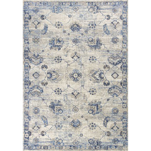 Seville Grey and Blue Runner: 2 Ft. 2 In. x 7 Ft. 6 In. Rug