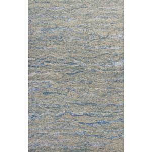 Serenity Ocean Blue Breeze Rectangular: 3 Ft. 3 In. x5 Ft. 3 In. Rug