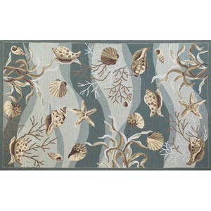 Sonesta Seafoam Shells Rectangular: 5 ft. x 7 ft. 6 in. Rug