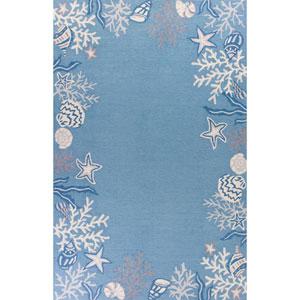 Sonesta Sea Blue Runner: 2 Ft. x 7 Ft. 6-Inch