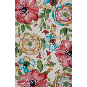 Sonesta Sand Floral Splash Rectangular: 7 Ft. 6 In. x 9 Ft. 6 In. Rug