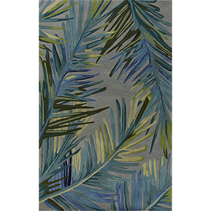 Sparta Gray and Blue Montego Rectangular: 3 Ft. 6 In. x 5 Ft. 6 In. Rug