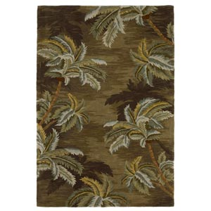 Sparta Moss Palm Trees Rectangular: 5 ft. 3 in. x 8 ft. 3 in. Rug