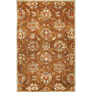 Syriana Coffee Allover Kashan Runner: 2 Ft. 3 In. x 7 Ft. 6 In.  Rug