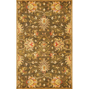 Syriana Emerald Green Agra Rectangular: 5 Ft. x 8 Ft.  Rug