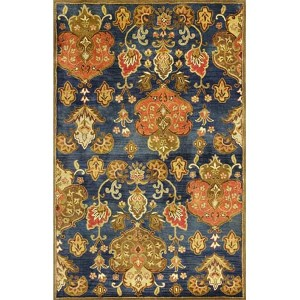 Syriana Navy Tapestry Runner: 2 Ft. 3 In. x 7 Ft. 6 In. Rug