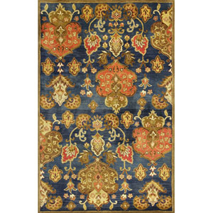 Syriana Navy Tapestry Rectangular: 3 Ft. 3 In. x 5 Ft. 3 In. Rug