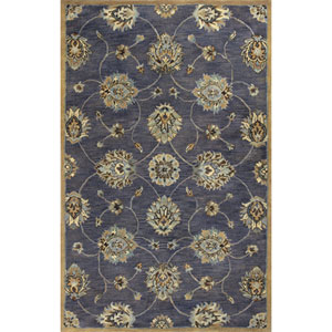 Syriana Midnight Kashan Rectangular: 8 Ft. x 10 Ft. 6 In. Rug