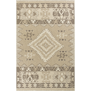 Tahoe Beige Navajo Rectangular: 3 Ft. 3 In. x 4 Ft. 11 In. Rug