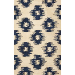 Tapestry Ivory/Blue Simplicity Rectangular: 5 Ft. x 8 Ft.  Rug