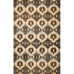 Tapestry Ivory Allover Mosaic Rectangular: 5 Ft. x 8 Ft.  Rug
