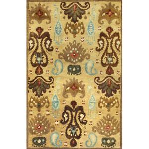 Tapestry Gold Ferozi Rectangular: 5 Ft. x 8 Ft. Rug