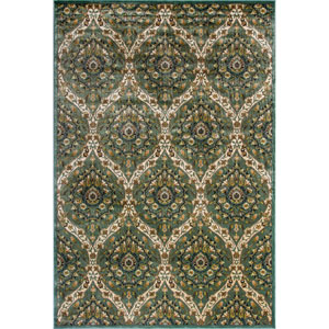 Versailles Blue and Green Rectangular: 2 Ft. 2-Inch x 3 Ft. 7-Inch