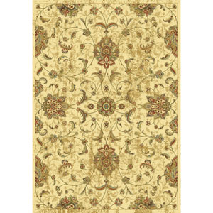 Versailles Ivory Mahal Rectangular: 5 Ft. 3 In. x 7 Ft. 7 In.  Rug