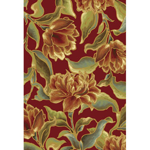 Versailles Red Bella Rectangular: 5 Ft. 3 In. x 7 Ft. 7 In.  Rug