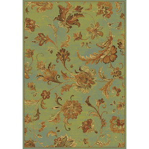 Versailles Aqua Aegean Scroll Rectangular: 5 Ft. 3 In. x 7 Ft. 7 In.  Rug