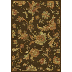 Versailles Mocha Aegean Scroll Rectangular: 5 Ft. 3 In. x 7 Ft. 7 In.  Rug