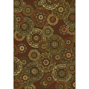 Versailles Mocha Suzani Rectangular: 5 Ft. 3 In. x 7 Ft. 7 In.  Rug