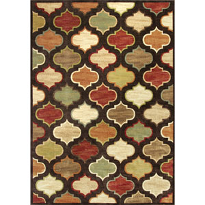 Versailles Mocha Arabesque Rectangular: 5 Ft. 3 In. x 7 Ft. 7 In. Rug