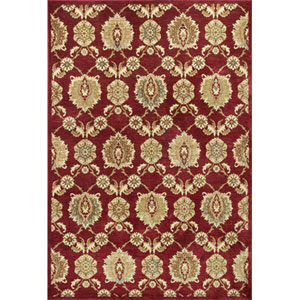 Versailles Cardinal Allover Tabriz Rectangular: 5 Ft. 3 In. x 7 Ft. 7 In. Rug