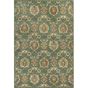 Versailles Seafoam Allover Tabriz Runner: 2 Ft. 2 In. x 6 Ft. 11 In. Rug
