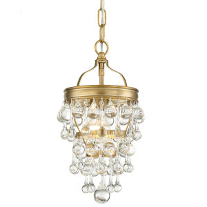 Calypso One-Light Vibrant Gold Mini Chandelier