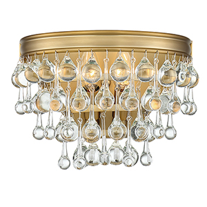 Calypso Vibrant Gold Two-Light Sconce