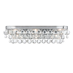 Calypso Polished Chrome Six Light Bath Fixture