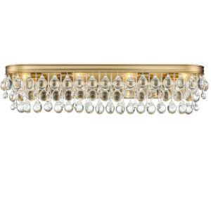 Calypso Eight-Light Vibrant Gold Bath Light
