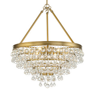 Calypso Six-Light Vibrant Gold Chandelier