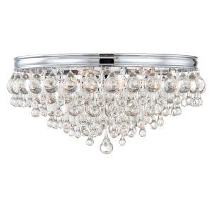 Calypso Polished Chrome Six-Light Ceiling Mount
