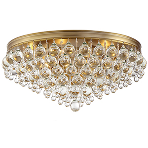 Calypso Vibrant Gold Six-Light Flush Mount