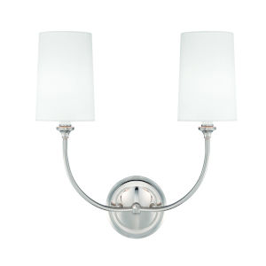 Sylvan Polished Nickel Two-Light Wall Sconce by Libby Langdon