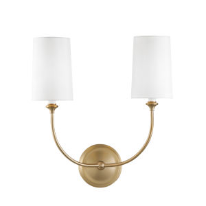 Sylvan Vibrant Gold Two-Light Sconce