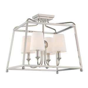 Sylvan Polished Nickel Four Light Flush Mount