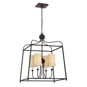 Sylvan Dark Bronze Four-Light Chandelier by Libby Langdon