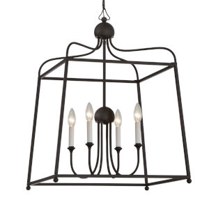 Sylvan Dark Bronze 38-Inch Four-Light Chandelier