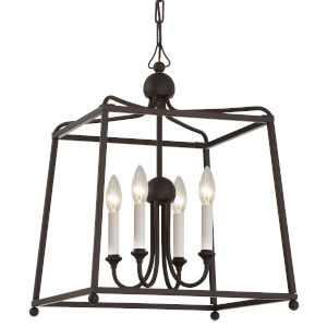 Sylvan Dark Bronze 29-Inch Four-Light Chandelier