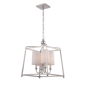 Sylvan Polished Nickel Five-Light Pendant by Libby Langdon