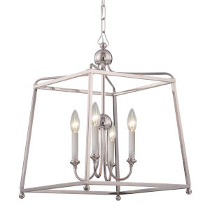 Sylvan Polished Nickel 16-Inch Four-Light Chandelier