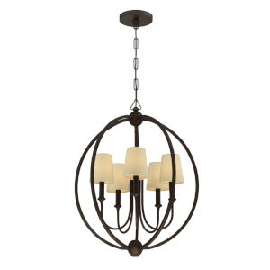 Sylvan Dark Bronze Five-Light Chandelier
