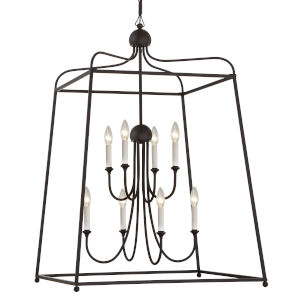 Sylvan Dark Bronze 21-Inch Eight-Light Chandelier